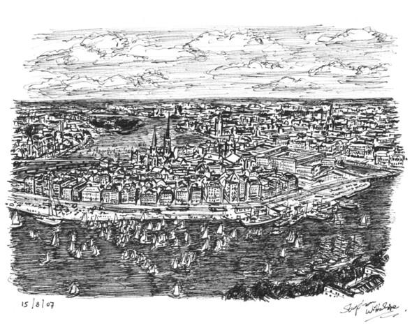 Стивен Вилтшер. Художник рисующий панорамы городов по памяти. Изображение № 17.