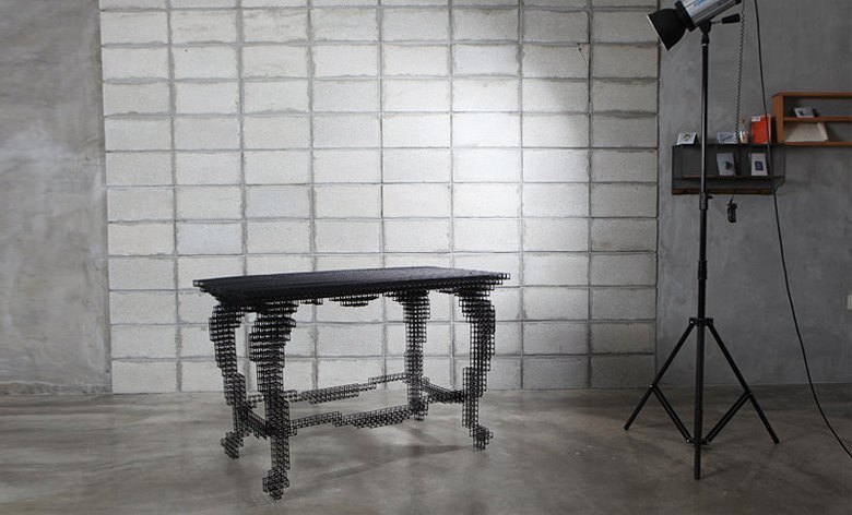 Глитч-мебель: красивые компьютерные ошибки в интерьере. Изображение № 31.