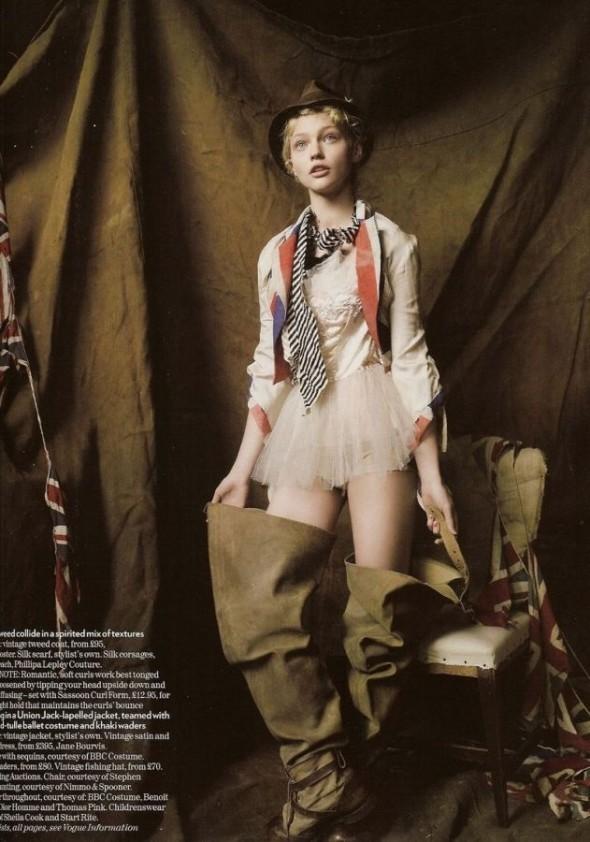 Изображение 11. «Sasha», британский Vogue, декабрь 2007.. Изображение № 11.