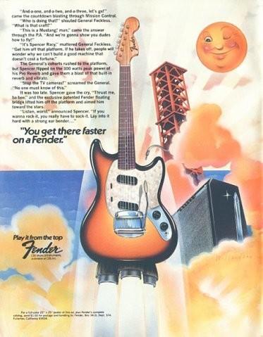 Винтажные рекламные постеры фирмы Fender. Изображение № 6.