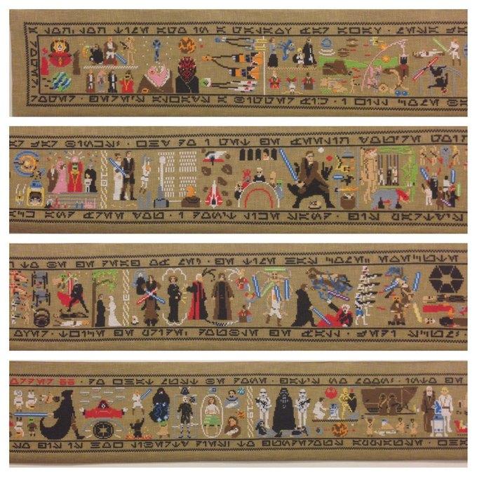 Девятиметровый гобелен изображает историю «Звёздных войн». Изображение № 1.