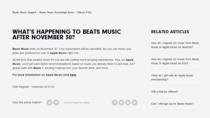Apple отключит Beats Music 30 ноября . Изображение № 1.