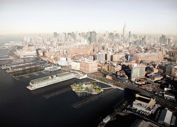 Пирс в Нью-Йорке превратят в плавучий парк. Изображение № 2.