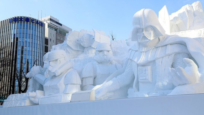 В Японии построили огромного Дарта Вейдера из снега. Изображение № 1.