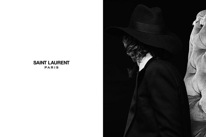 Бек и Эди Кэмпбелл снялись в кампании Saint Laurent. Изображение № 2.