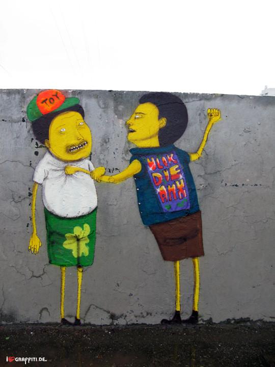 Граффити художники Os Gmeos о творческом пути. Изображение № 12.