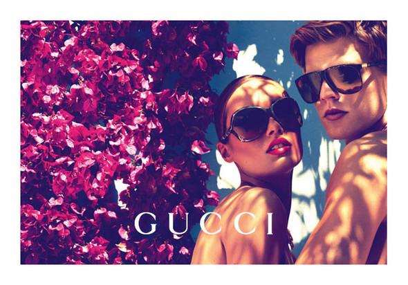 Karmen Pedaru и Lenz von Johnston для рекламы Gucci Cruise 2012. Изображение № 8.
