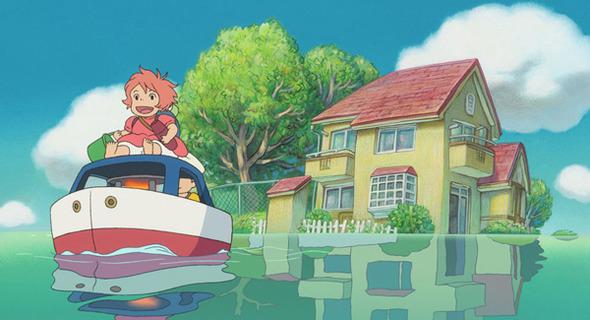 «Рыбка Поньо на утесе» Хаяо Миядзаки. Изображение № 1.