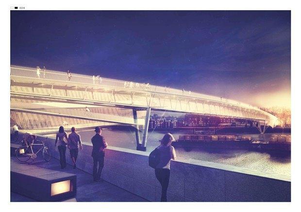 Выложены 74 проекта нового моста через Темзу. Изображение № 20.