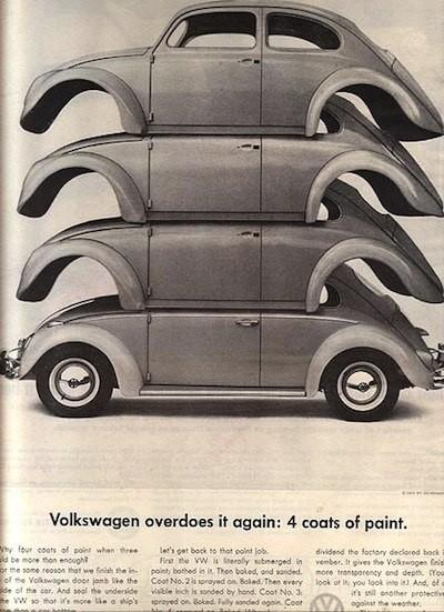 Эволюция рекламы Volkswagen. Изображение № 9.
