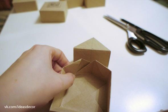 Простая подарочная коробочка, без использования клея. Изображение № 8.