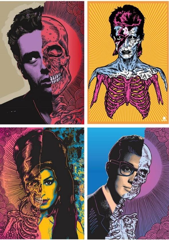 Известные личности стали на половину зомби в исполнении Ben Brown. Изображение № 1.