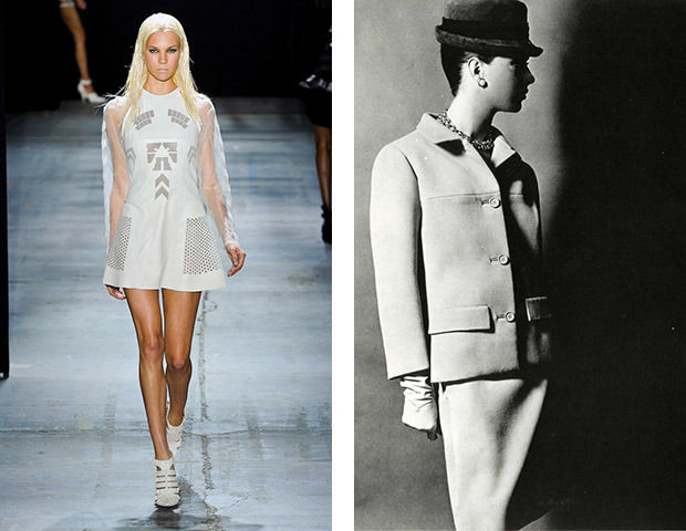 Спортивное платье у Alexander Wang и костюм Balenciaga 1965 года, вдохновленный спортом. Изображение № 6.