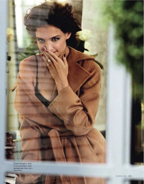 Съёмка: Кэти Холмс для Elle. Изображение № 3.