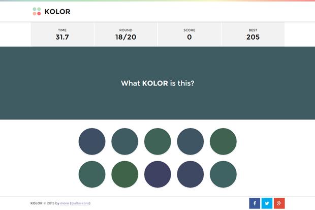 Сайт дня: попробуйте угадать цвет на время. Изображение № 1.