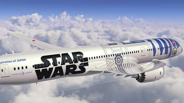 Авиакомпания показала перекраску самолёта под R2-D2. Изображение № 3.