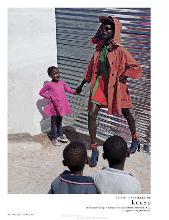 Съёмка: Шанель Иман для L'Officiel. Изображение № 18.
