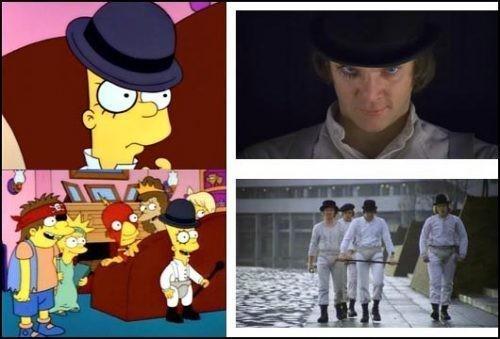 """Барт Симпсон в костюме Алекса/ Кадры из к/ф """"Заводной апельсин"""". Изображение № 54."""