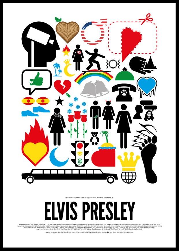 Песни икон рок-музыки изображены в виде пиктограмм. Изображение № 6.