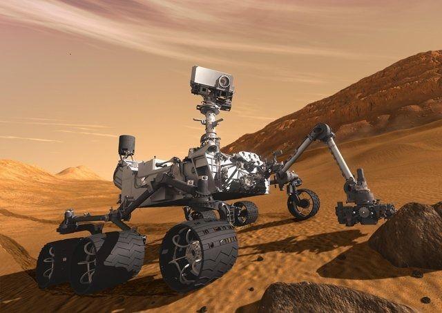 Марсоход Curiosity Rover на поверхности планеты — 3D модель . Изображение № 1.