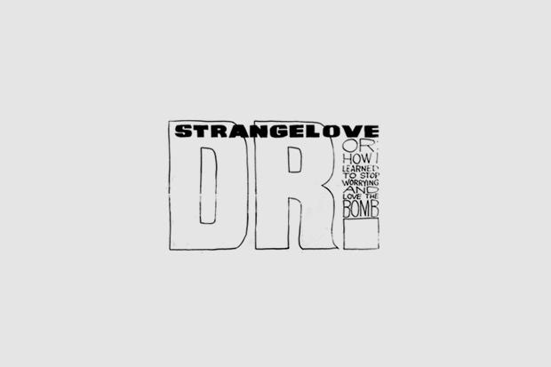 Логотип из титров или трейлера фильма «Доктор Стрейнджлав, или Как я научился не волноваться и полюбил атомную бомбу». Использованы Grotesque, Futura, рукописный. Изображение № 29.