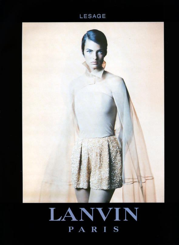 Архивная съёмка: Линда Евангелиста для Lanvin, 1990. Изображение № 3.
