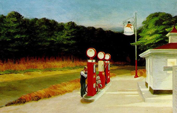 Edward Hopper, Gas, 1940. Изображение № 41.