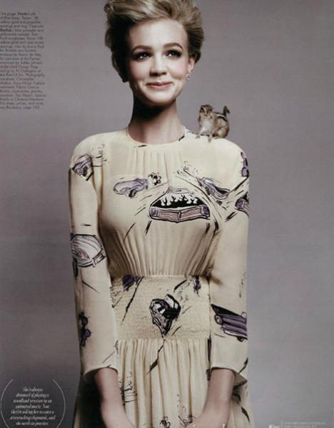 Кэрри Маллиган для W Magazine (январь, 2012). Изображение № 2.