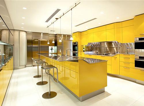 Современная желтая кухня фирмы Snaidero. Изображение № 1.