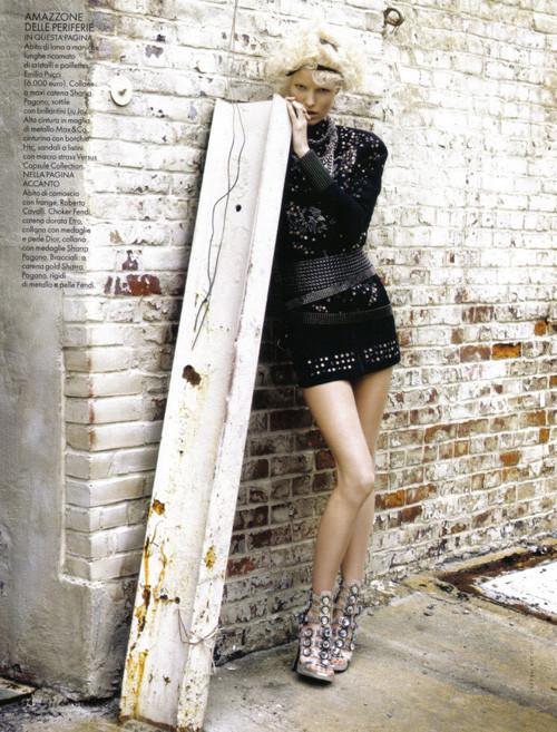 Каролин Винберг дляоктябрьского Elle Italia. Изображение № 10.