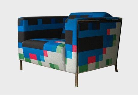 Глитч-мебель: красивые компьютерные ошибки в интерьере. Изображение № 9.