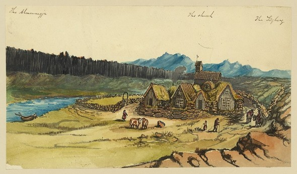 Исландия в середине XIX века: путевые рисунки американского дипломата. Изображение № 20.