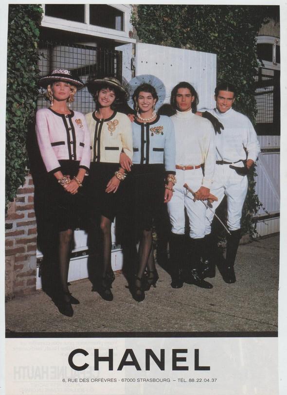 Архивная съёмка: Рекламная кампания Chanel SS 1990. Изображение № 1.