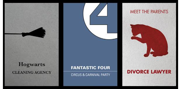 Дизайнеры создали визитные карточки героев Голливуда. Изображение № 7.