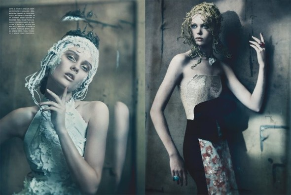 Съемка: Фрида Густавссон, Жак Ягачак и Кристина Салинович для Vogue. Изображение № 7.