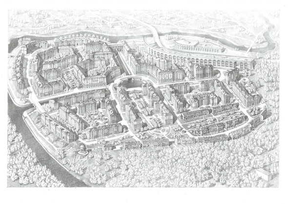 """""""Город набережных"""" строится рядом с Москвой. Изображение № 6."""