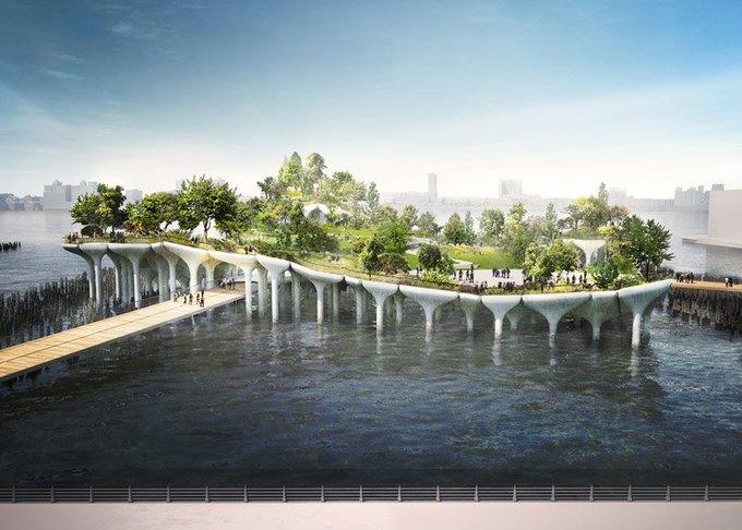 Пирс в Нью-Йорке превратят в плавучий парк. Изображение № 3.