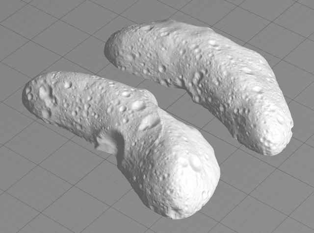 Две стороны астероида Эрос. Изображение № 6.