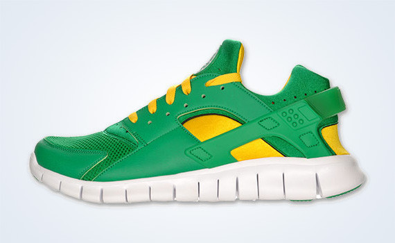 Nike Huarache Free 2012 – Court Green – White – Tour Yellow. Изображение № 3.