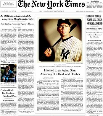 На передовице The New York Times опубликовано Instagram-фото. Изображение № 1.