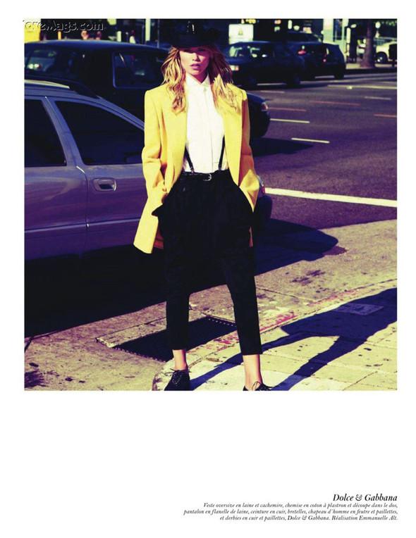 Съёмка: Аризона Мьюз, Лара Стоун, Наташа Поли и другие модели во французском Vogue. Изображение № 57.