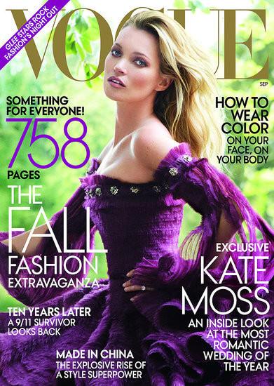 Кейт Мосс на обложках vogue. Изображение № 9.
