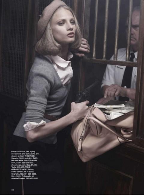 Бонни и Клайд в Harpers Bazaar. Изображение № 6.