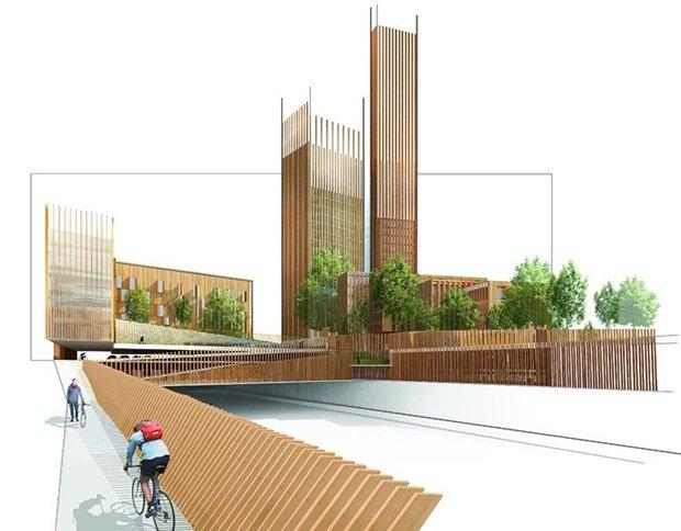 Представлен проект самого высокого деревянного здания. Изображение № 1.