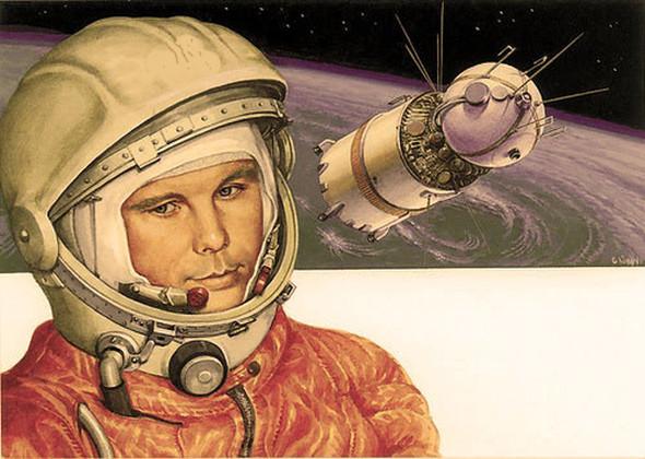 «Поехали!» Подборка ретро-плакатов с Юрием Гагариным. Изображение № 6.