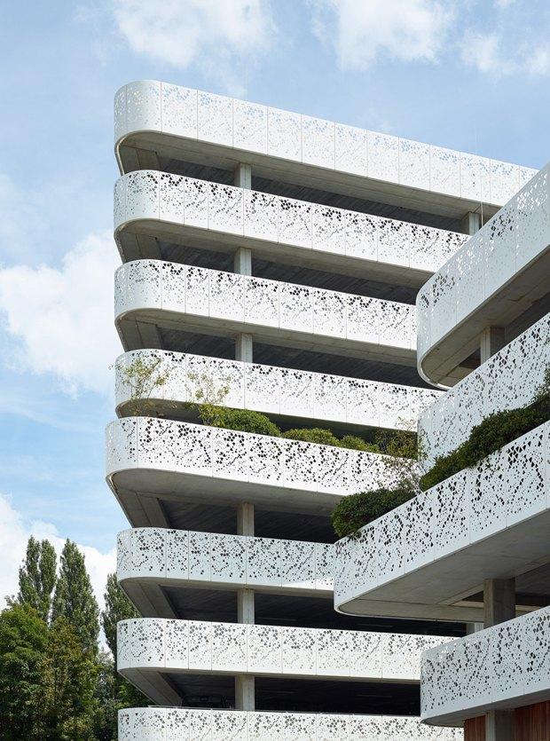 Архитектура дня: парковка сперфорацией вБельгии. Изображение № 4.