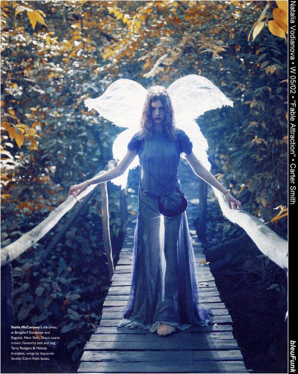 Архивная съёмка: Наталья Водянова для W, 2002. Изображение № 1.