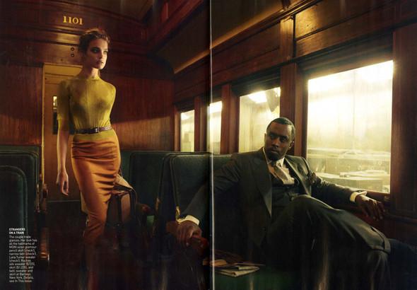 Водянова и Пи Дидди: Любовь в поезде. Изображение № 6.