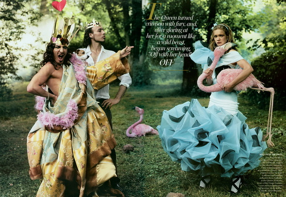 Vogue UK : Vodyanova in Wonderland. Изображение № 1.
