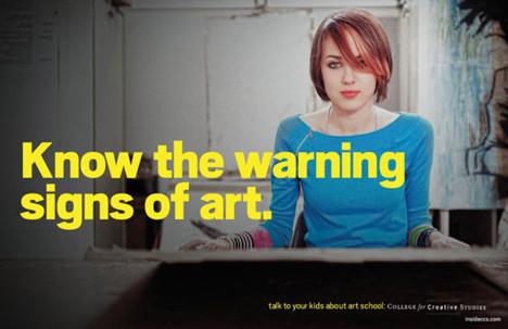 Рекламная кампания об арт-школе с пародией на наркотики. Изображение № 6.